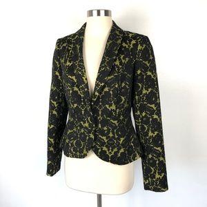 Banana Republic Lwren Scott | Black Yellow Blazer